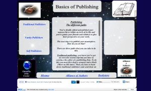 Publishing page
